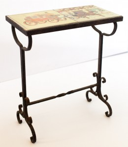 Horse Carriage Wrought Iron Table by D. & M.