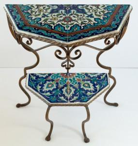 Turkish Iznik Wrought Iron Table