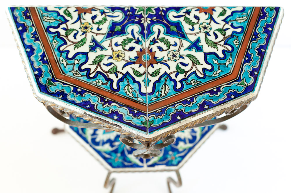 Turkish Iznik Wrought Iron Table