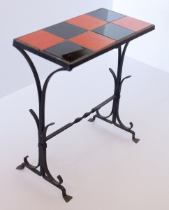 Checkered Wrought Iron Table
