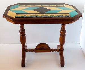 Art Deco Trestle Table by Hermosa