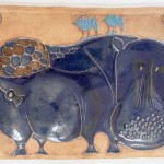 Hippo Tile Plaque by Bertil Vallien and Hal Fromhold