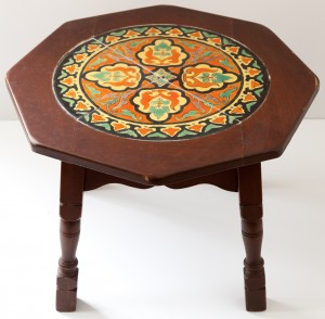 Octagon Table with a Roundel Tile Set by Taylor