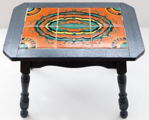 Orange Spanish Geometric Table by Taylor